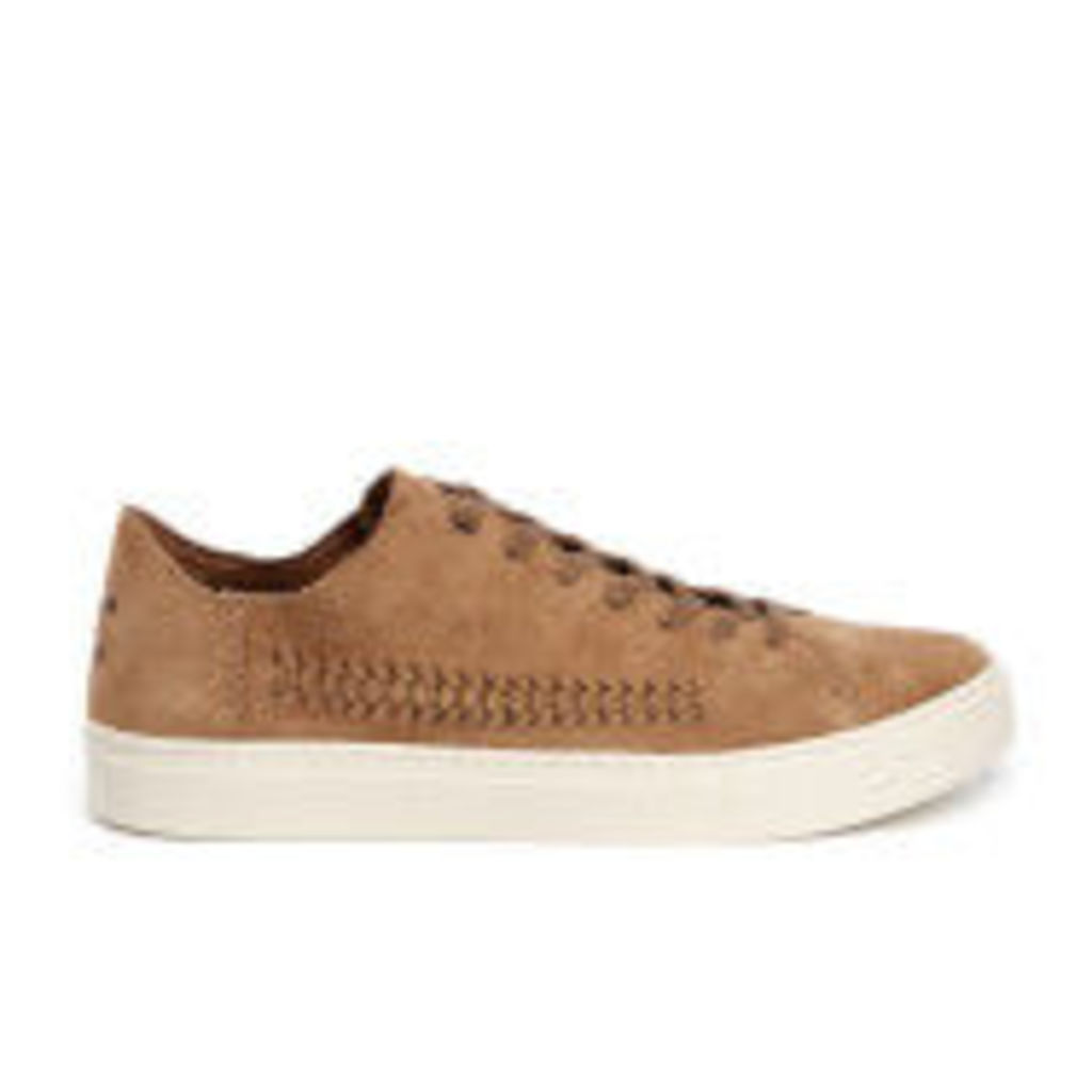 TOMS Men's Lenox Woven Panel Suede Trainers - Toffee Suede/Woven Panel - UK 8/US 9