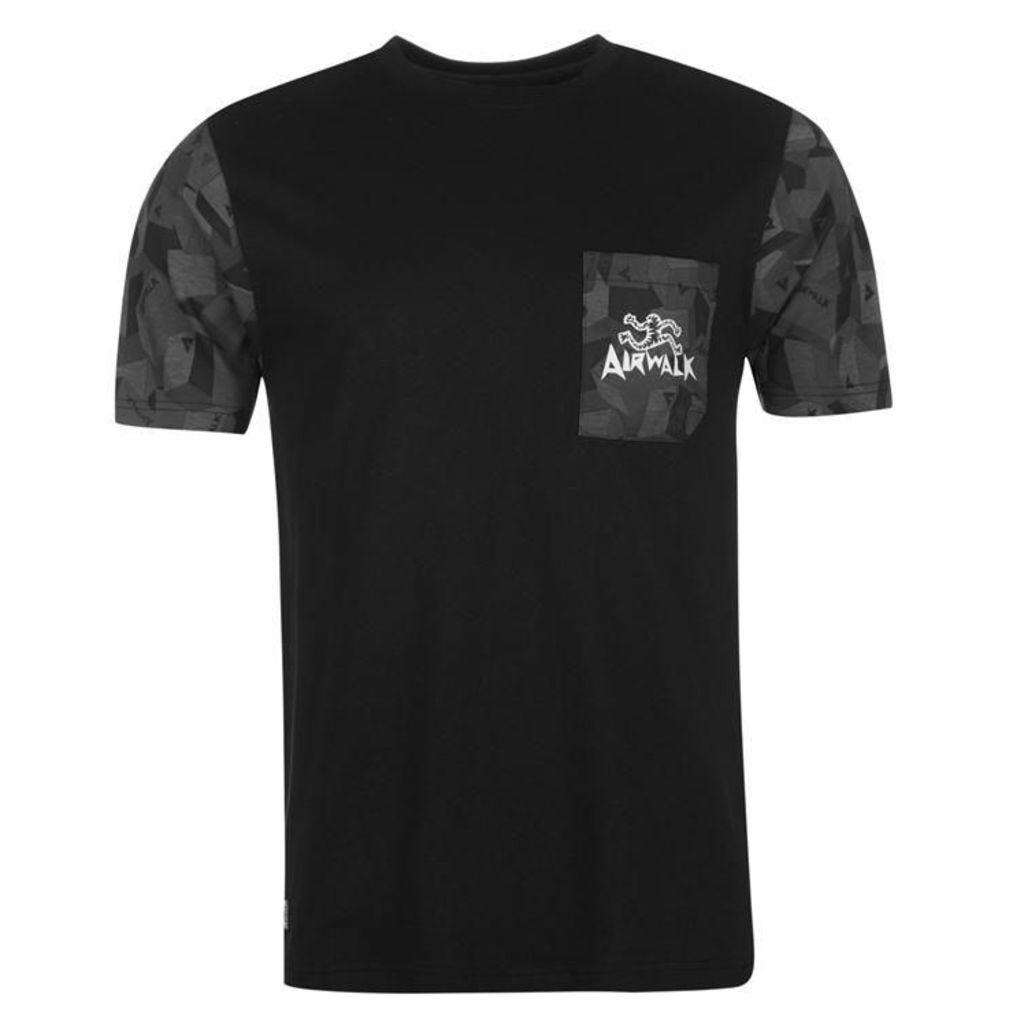 Airwalk Camouflage Arm T Shirt Mens