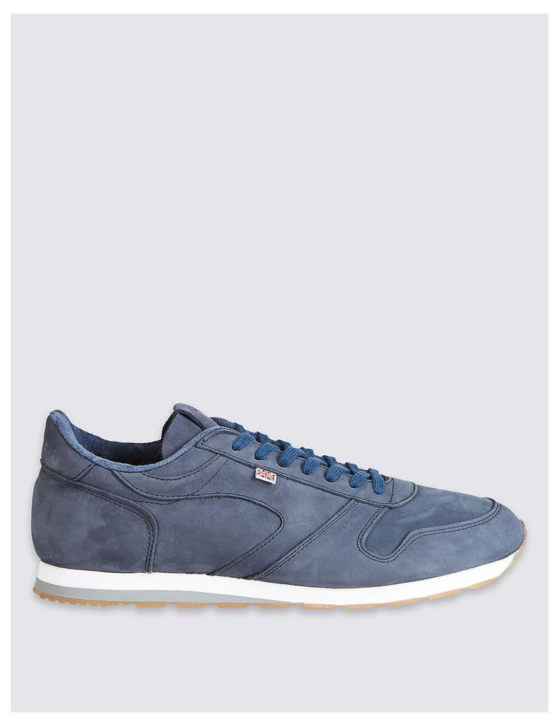 Best of British for M&S Collection Seoul 88 Blue Nubuck Trainers