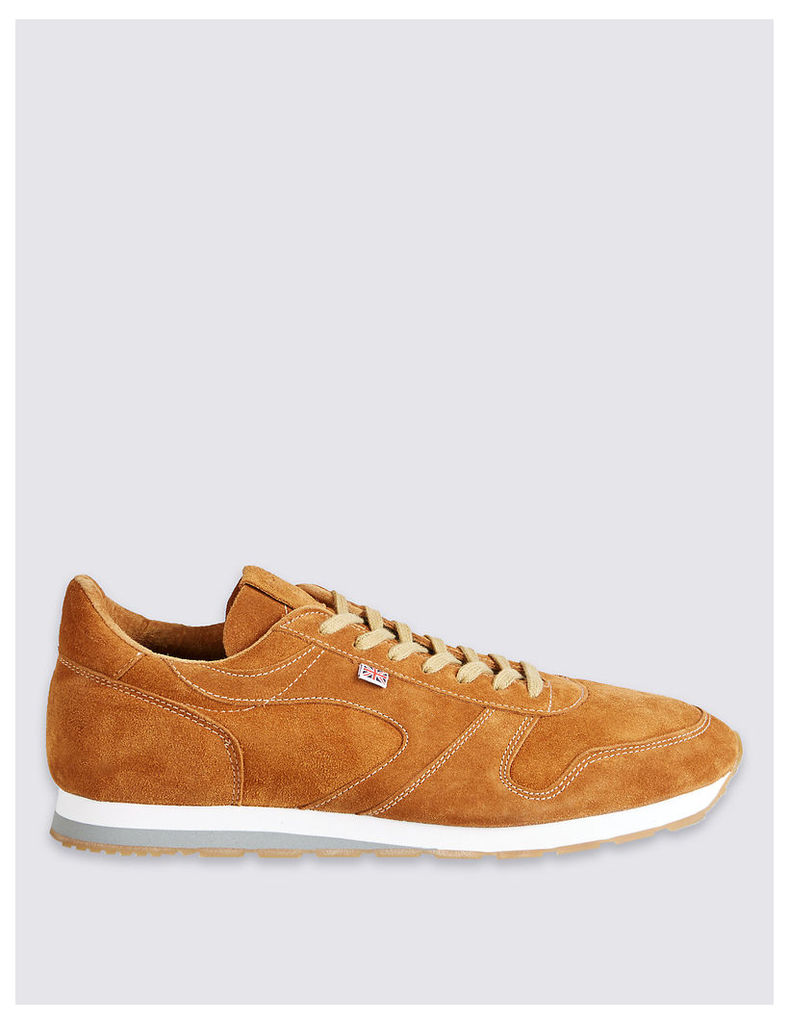 Best of British for M&S Collection Seoul 88 Tan Suede Trainers