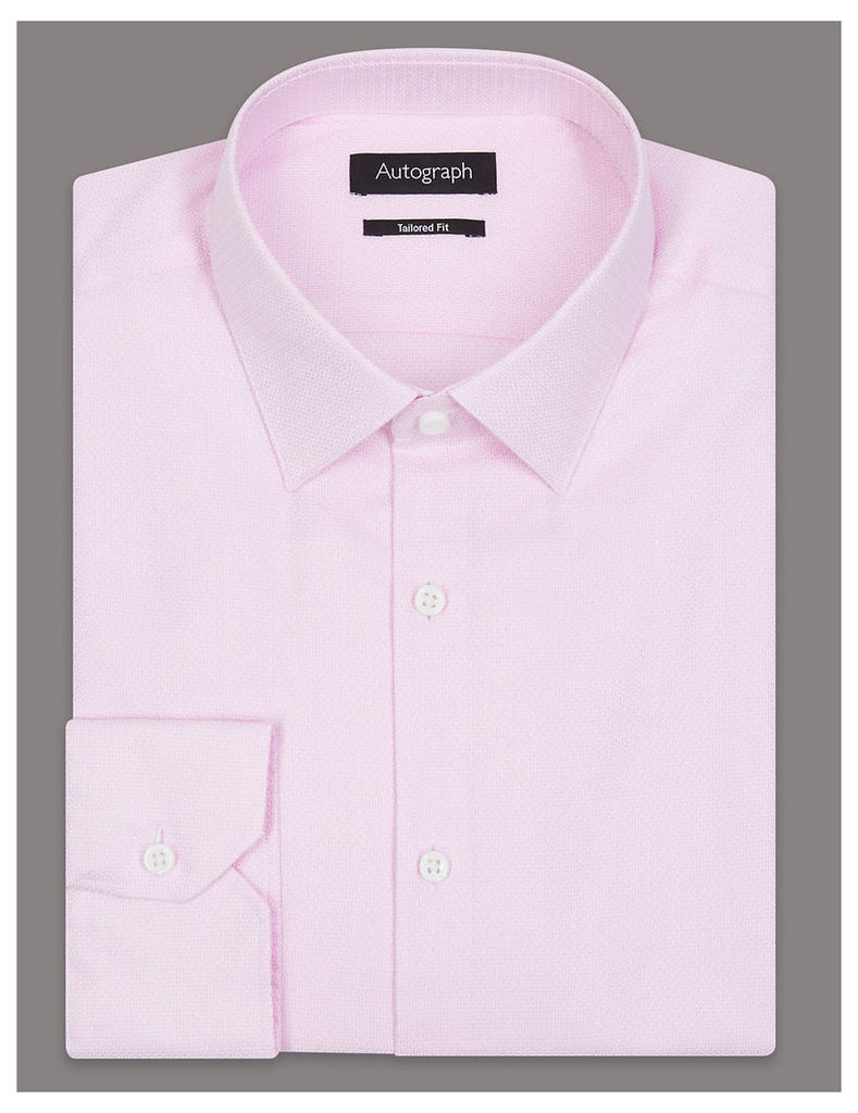 Autograph Pure Cotton Tailored Fit Textured Shirt