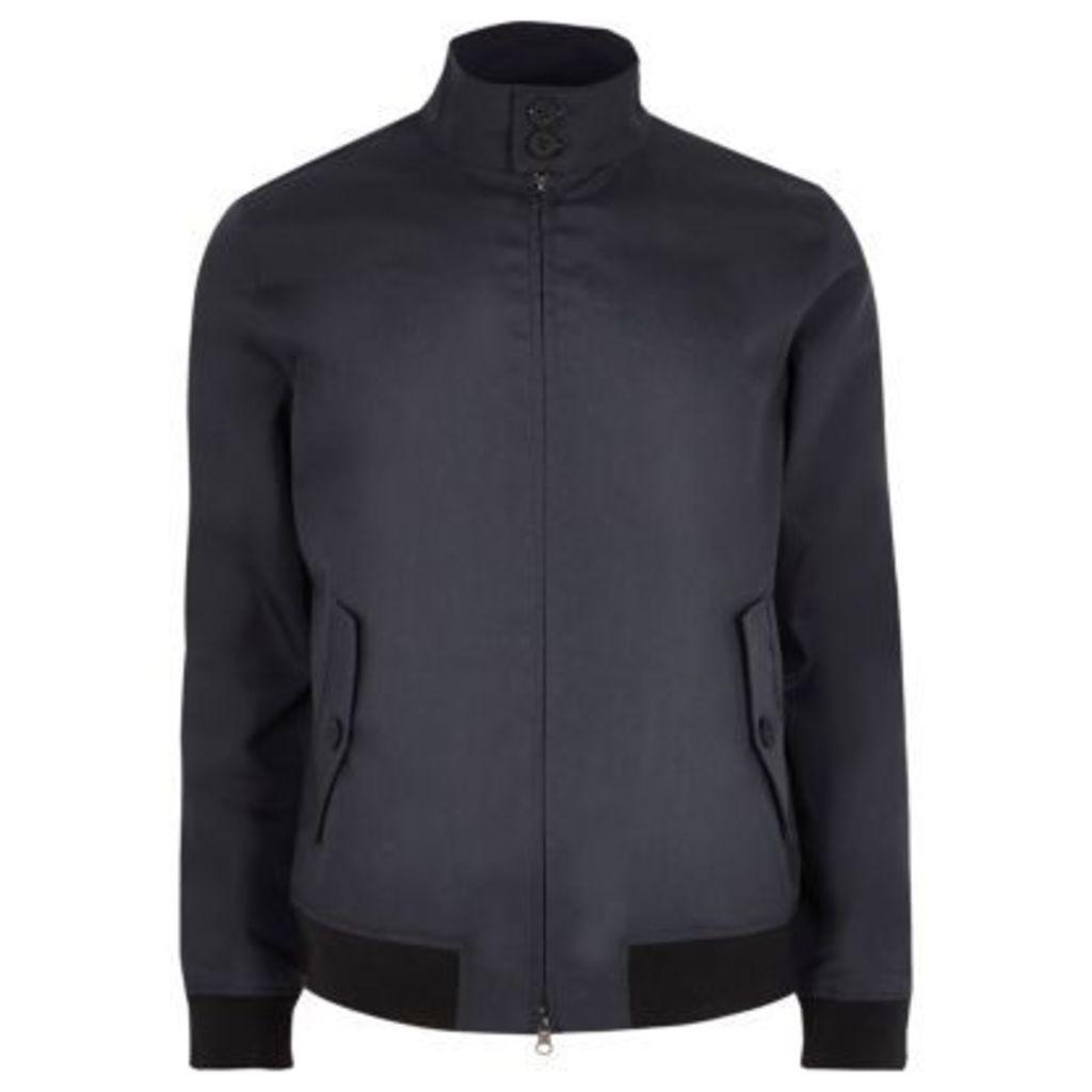 River Island Mens Navy Only & Sons harrington jacket