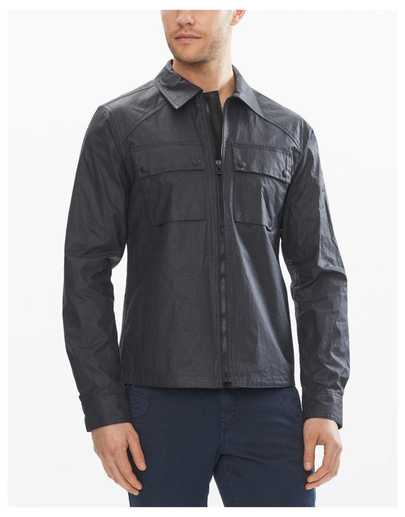 Belstaff Shawbury Long Sleeve Shirt Washed Navy