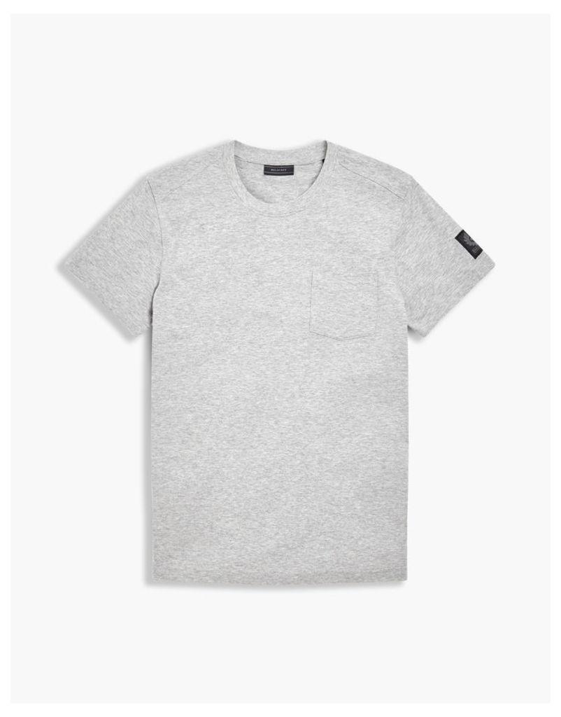 Belstaff New Thom Crew Neck T-Shirt Grey Melange