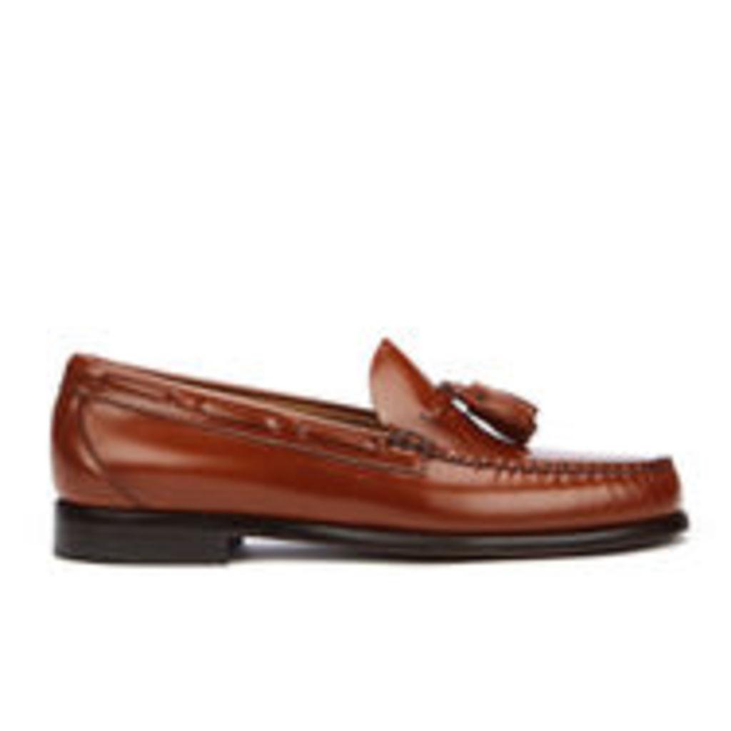 Bass Weejuns Men's Larkin Tassle Leather Loafers - Mid Brown - UK 8