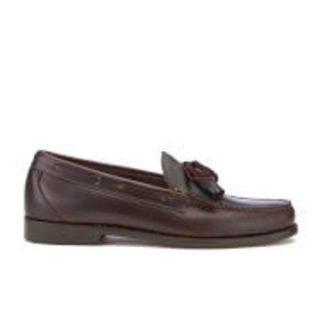 Bass Weejuns Men's Layton Kiltie Leather Loafers - Dark Brown - UK 11