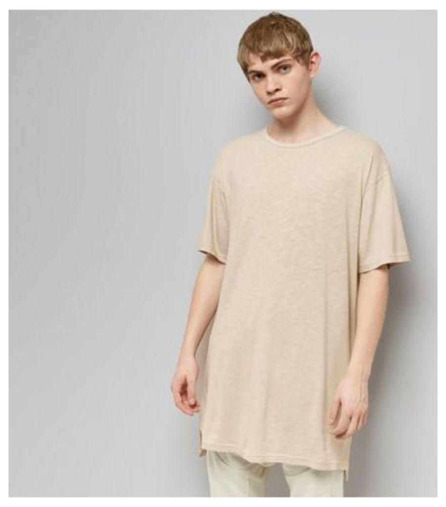 Stone Split Hem Longline T-Shirt