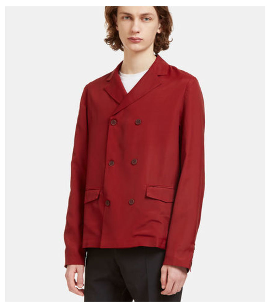 Technical Double-Breasted Blazer Jacket