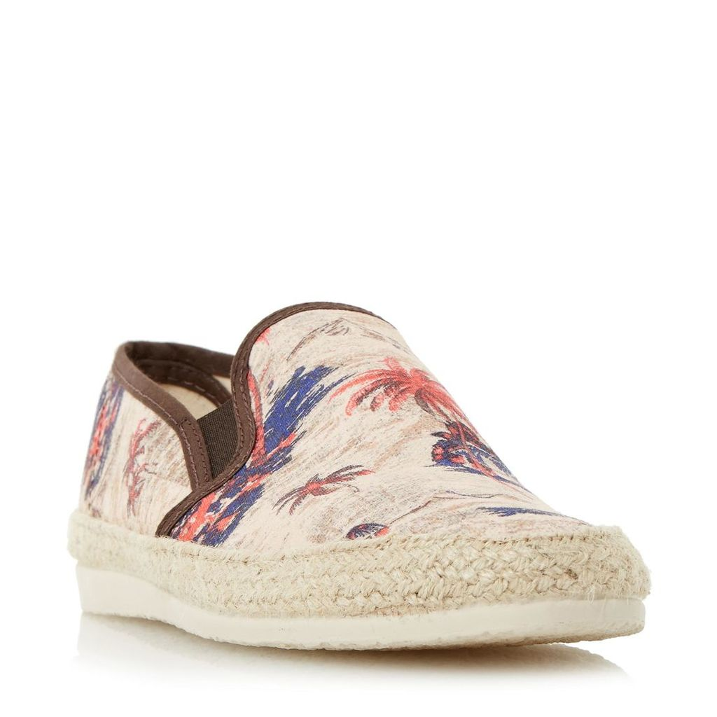 Fancy Palm Tree Print Espadrille Shoe