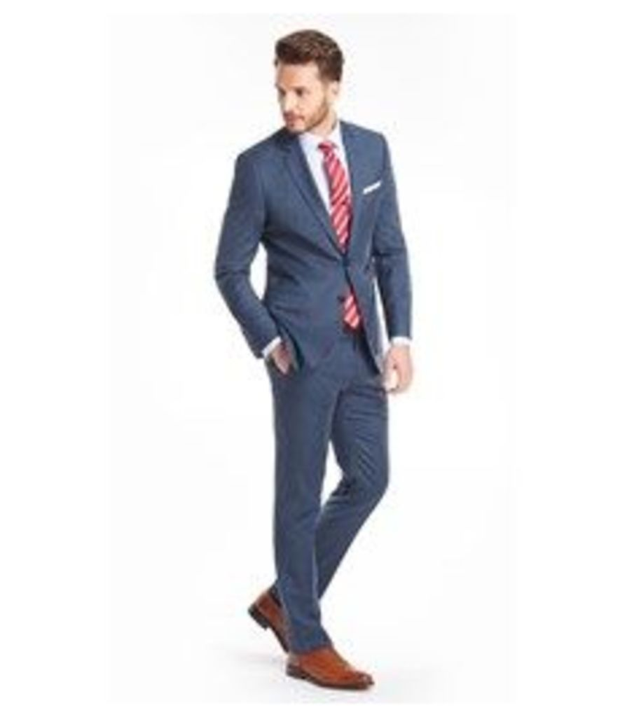 Men's Blue Sharkskin Slim Fit Suit  - Super 120s Wool