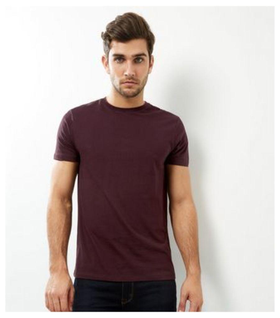 Dark Purple Crew Neck T-shirt