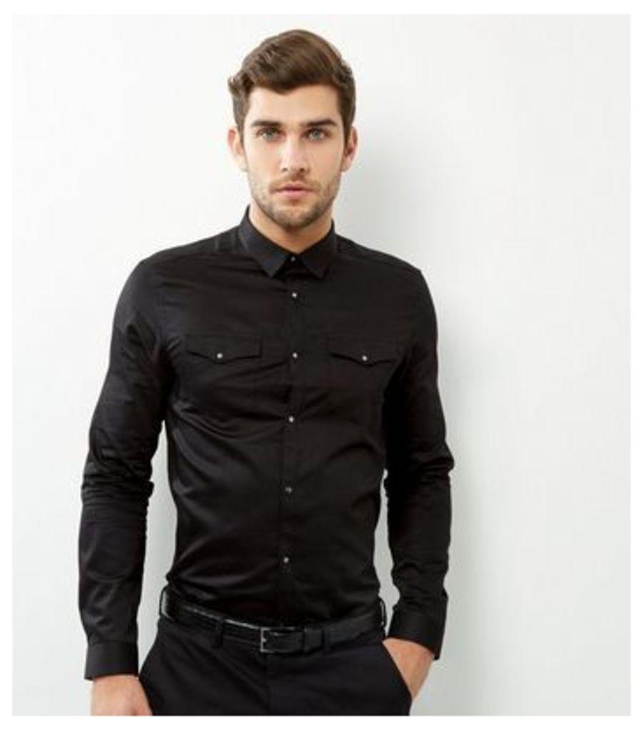 Black Long Sleeve Western Shirt