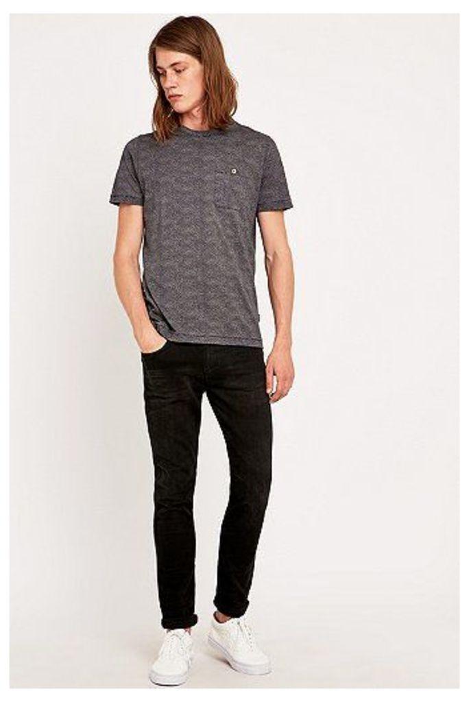 Loom Rollins Washed Black Slim Fit Jeans, Black