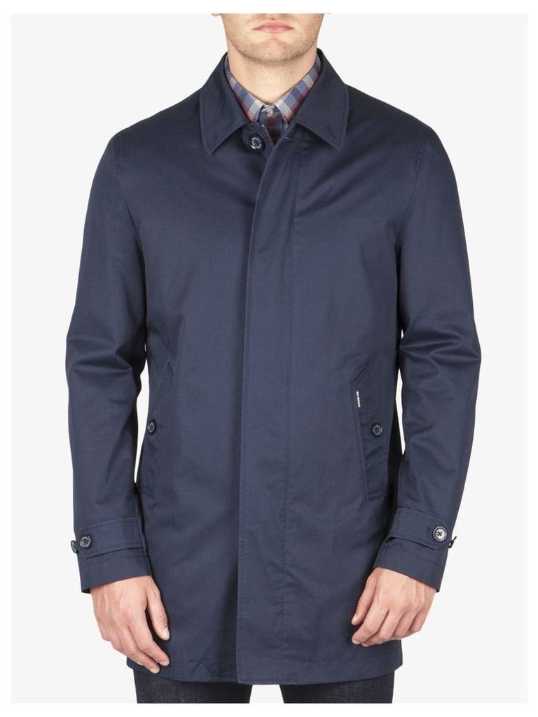 Cotton Gabardine Mac Med Navy Blazer