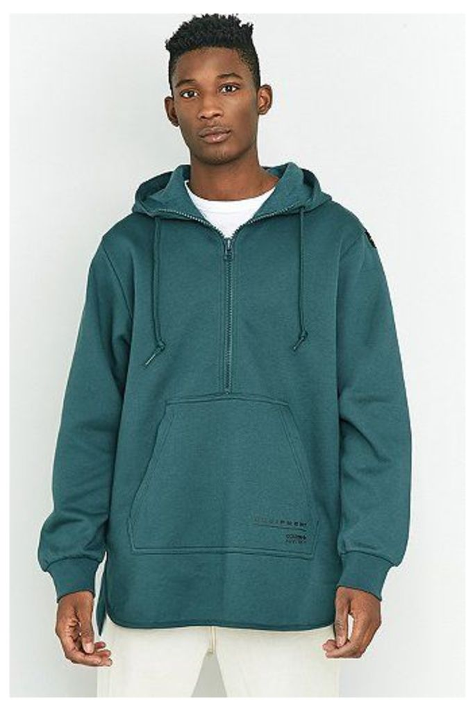 adidas EQT Mystery Green Scallop Pullover Hoodie, Turquoise