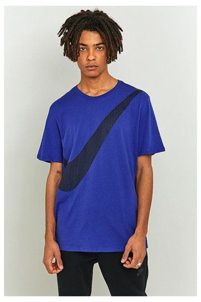 Nike Sportswear Deep Night Diagonal Swoosh T-shirt, Blue