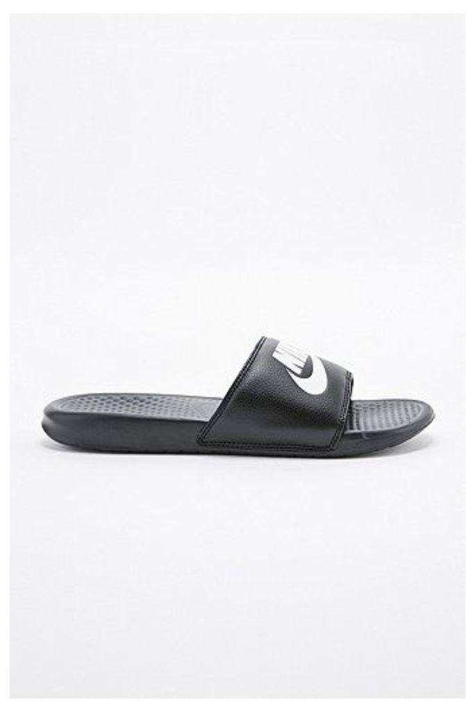 Nike Benassi JD Sliders in Black, Black
