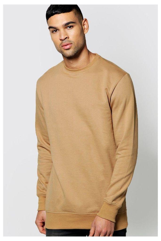 Neck Sweatshirt - tan