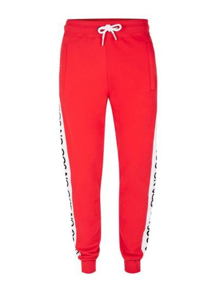 Mens JOG ON Red Joggers*, Red