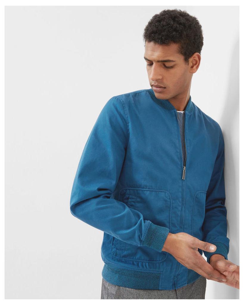 Ted Baker Cotton bomber jacket Blue