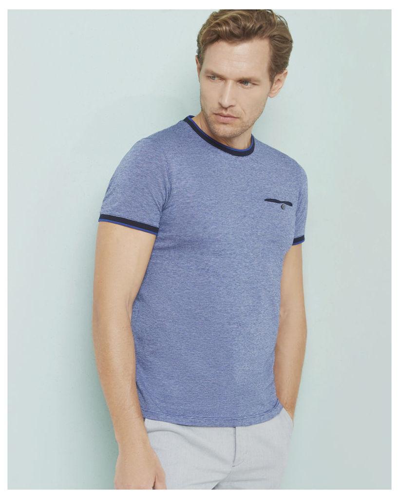 Ted Baker Crew neck cotton T-shirt Blue