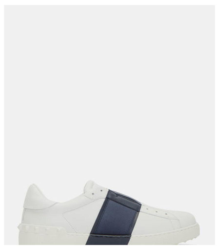 Contrast Grosgrain Panel Stud Slip-On Sneakers
