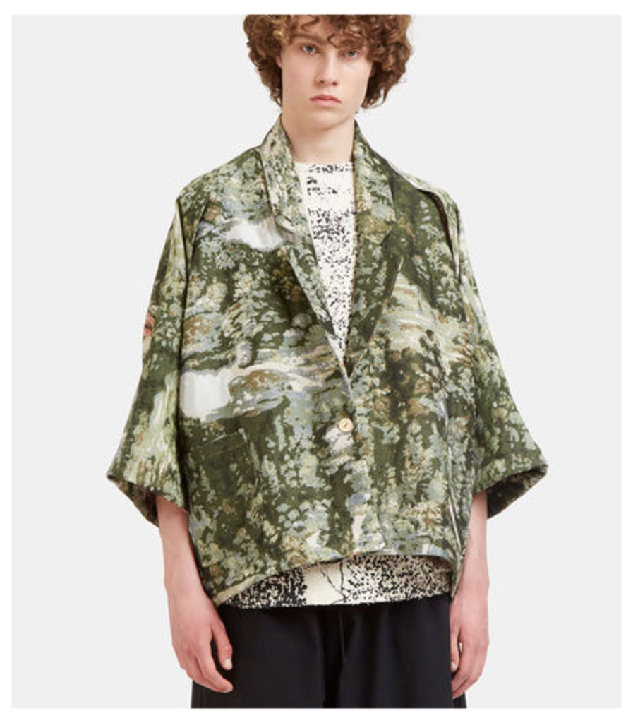Sakko Mini Poncho Jacquard Jacket