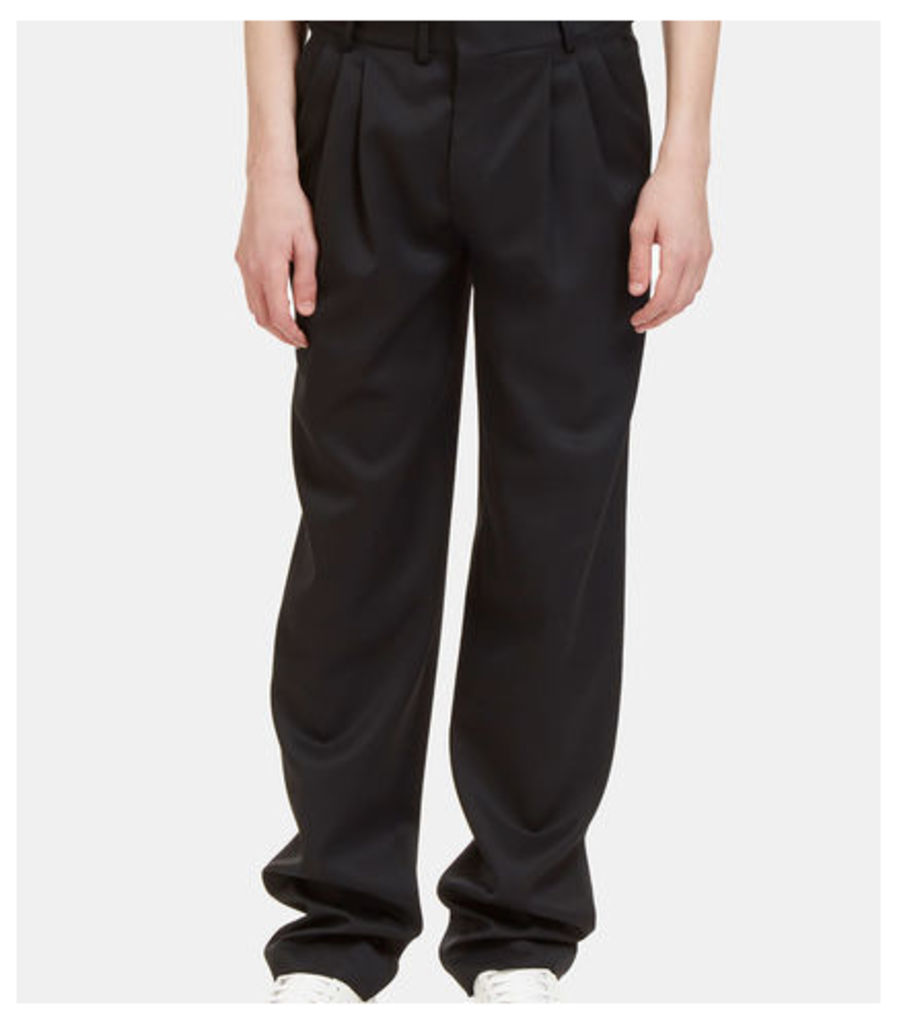 Triple Tuck Pleat Tailored Pants
