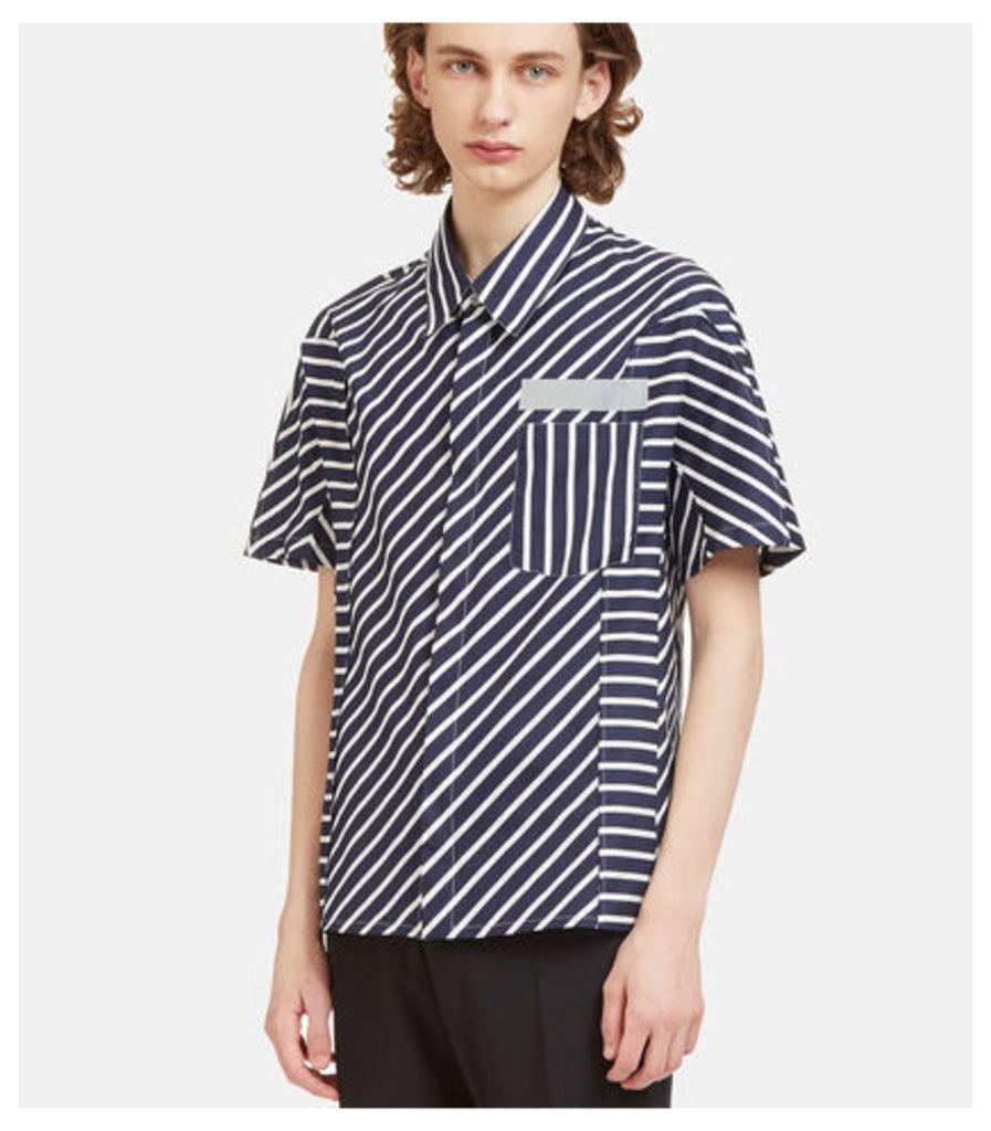 Mixed Stripe Short Sleeved Shirt