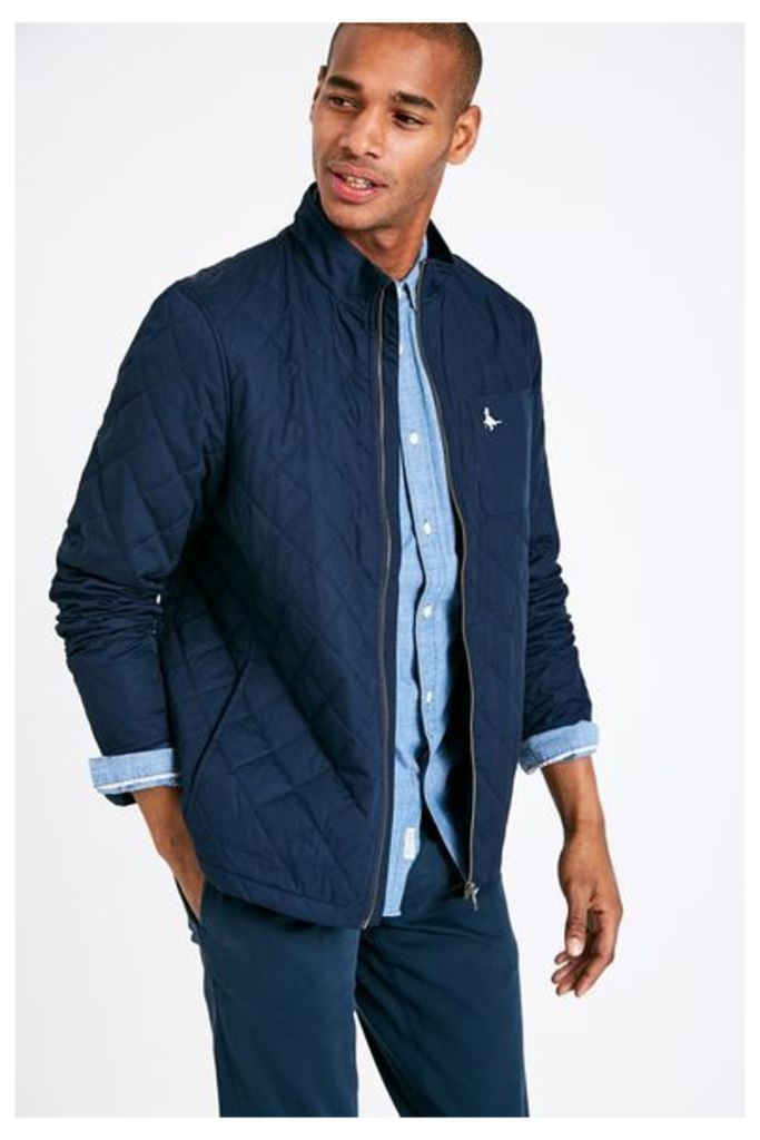 HAMFIELDS QUILTED JACKET NAVY