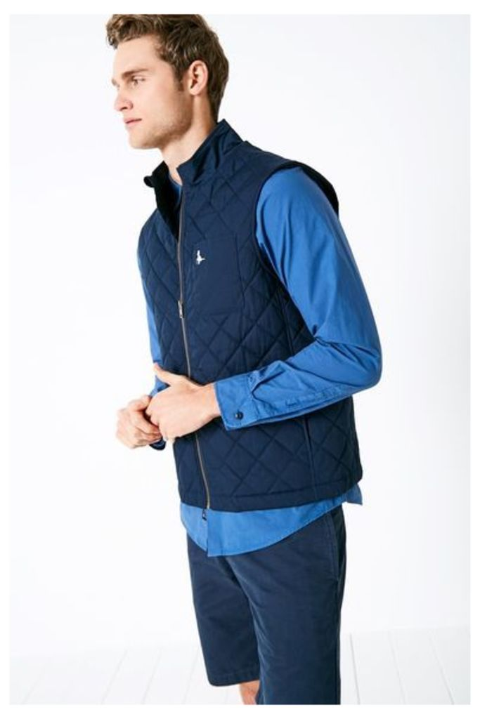 CROXDALE QUILTED GILET NAVY
