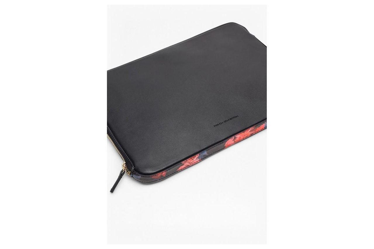 Printed Saffiano Marta Laptop Case - black/allegro poppy