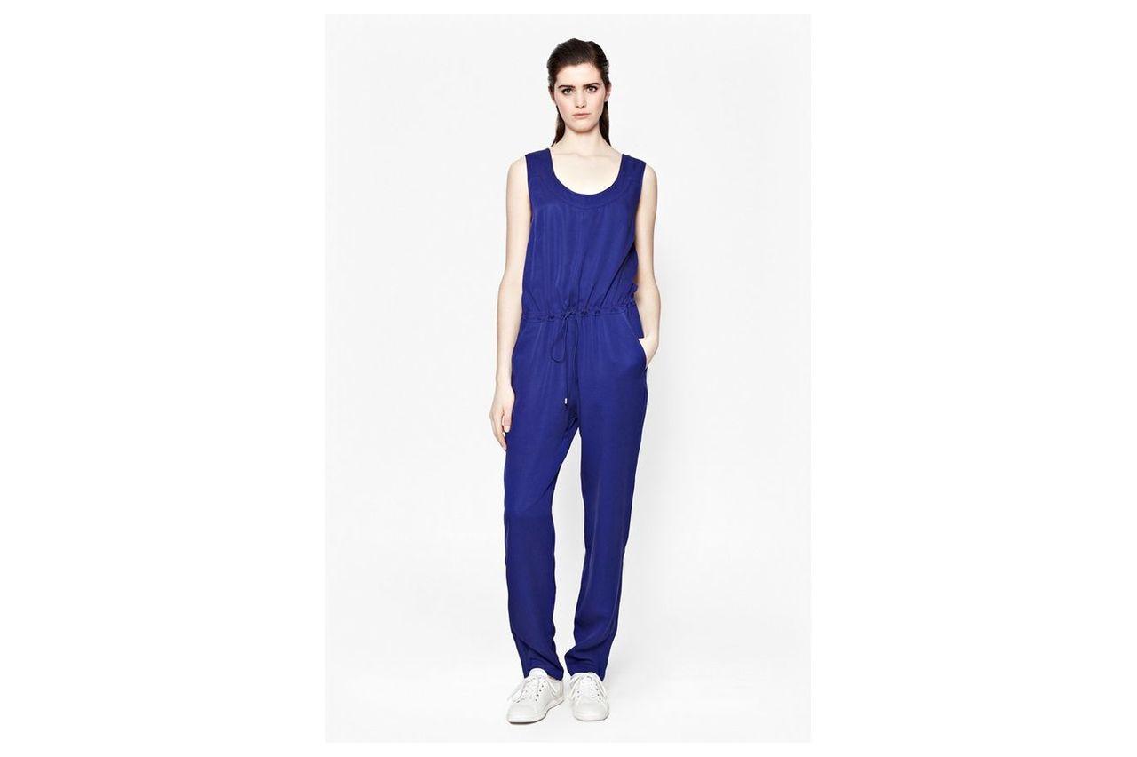 Miami Drape Jumpsuit - monarch blue