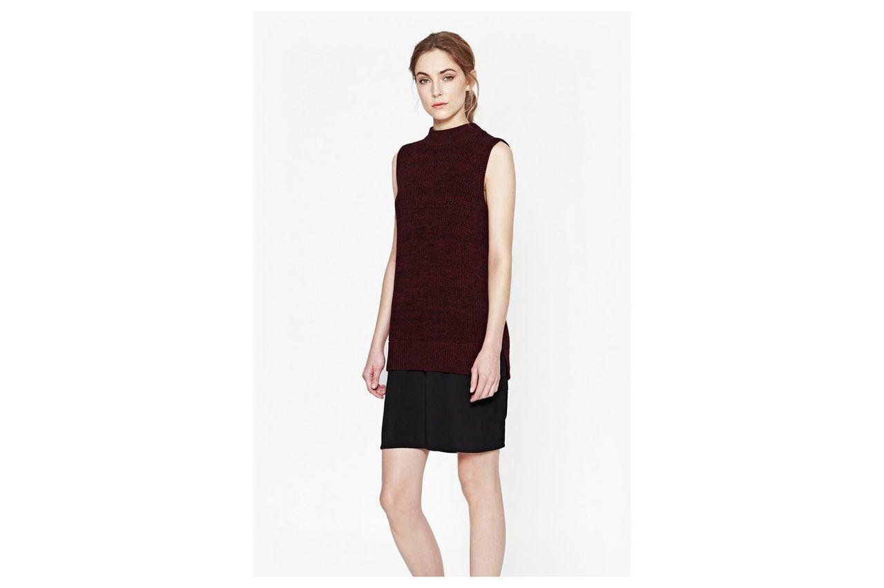 Hendy High Neck Jumper Dress - runaway red/black/black