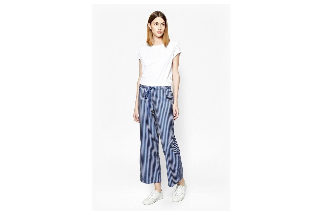 Mack Mix Pinstripe Jogger Trousers - blue/multi