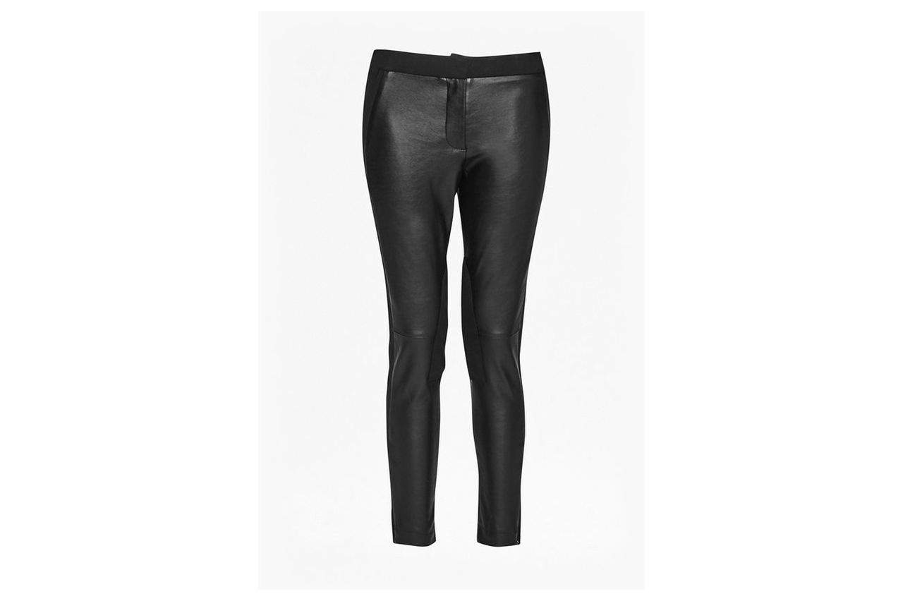 Street Faux Leather Skinny Trousers - black