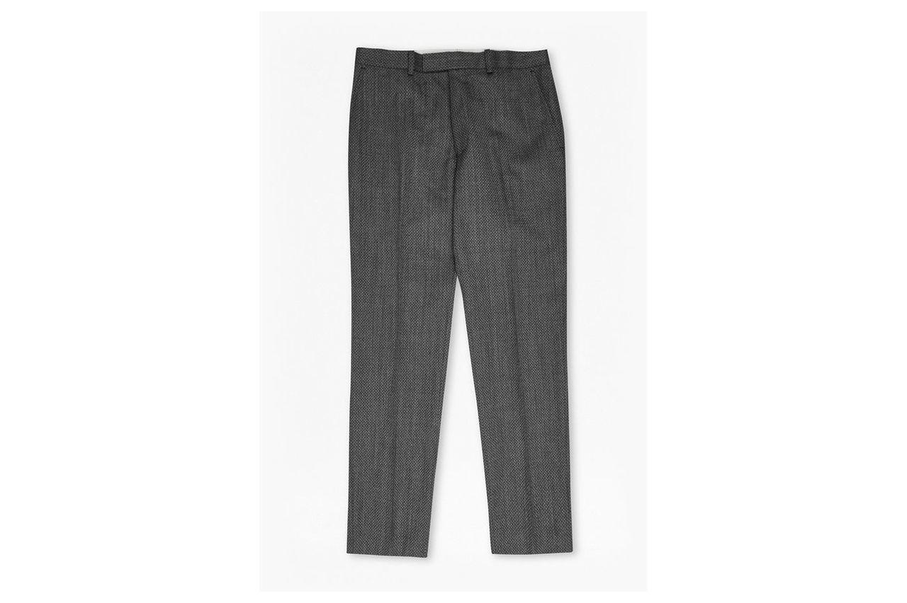 Charcoal Jacquard Trousers - charcoal