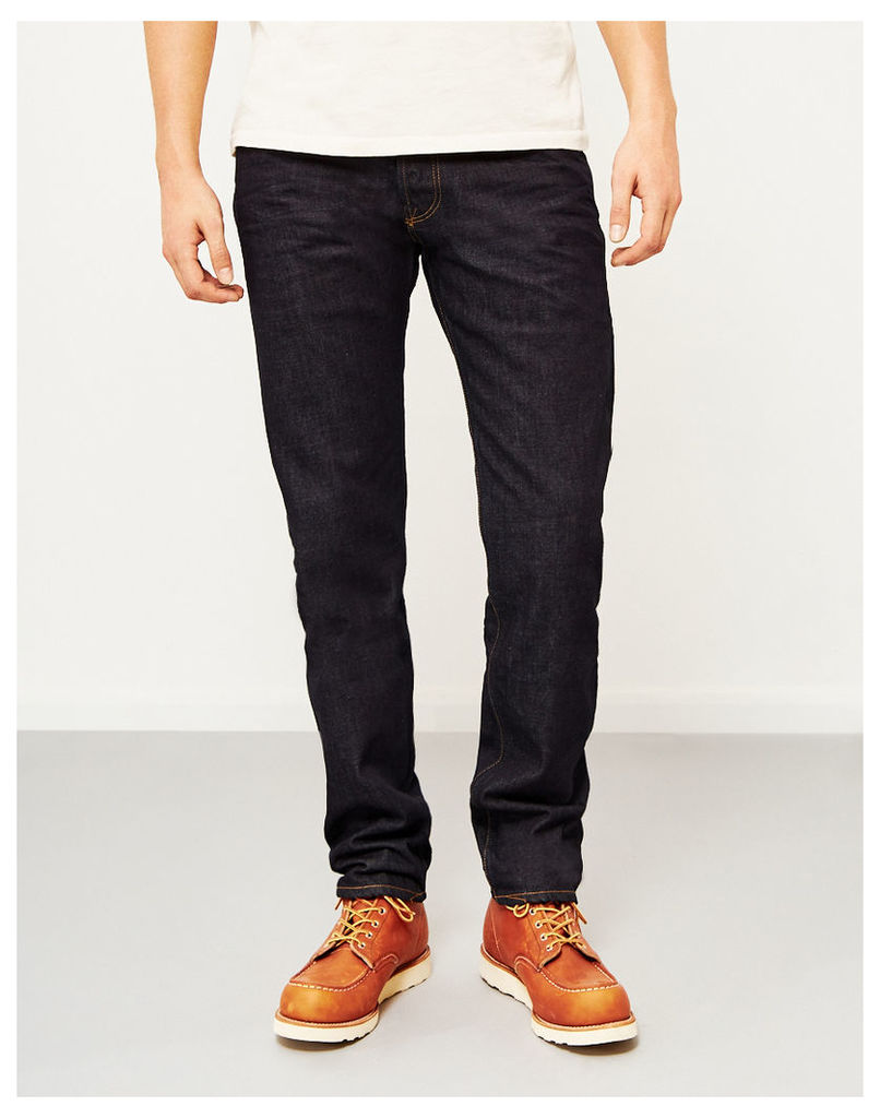 Hawksmill 14oz Organic Crinkle Rinse Loose Tapered Fit Jeans