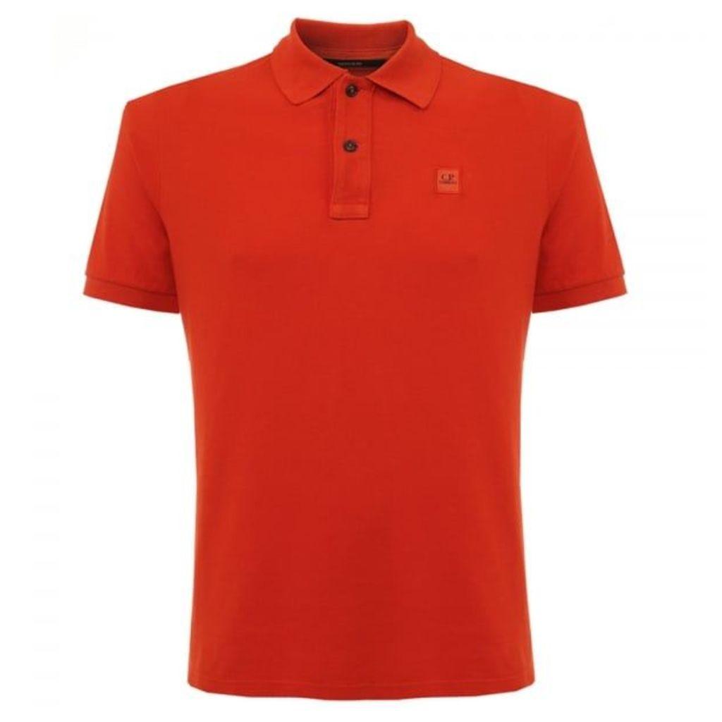 CP Company Pique Red Polo Shirt 16SCPUT02034