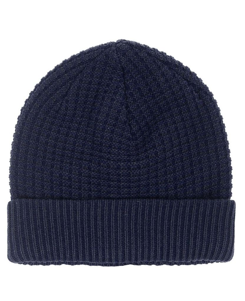 Men's Blue Inc Navy Simple Knitted Beanie, Blue