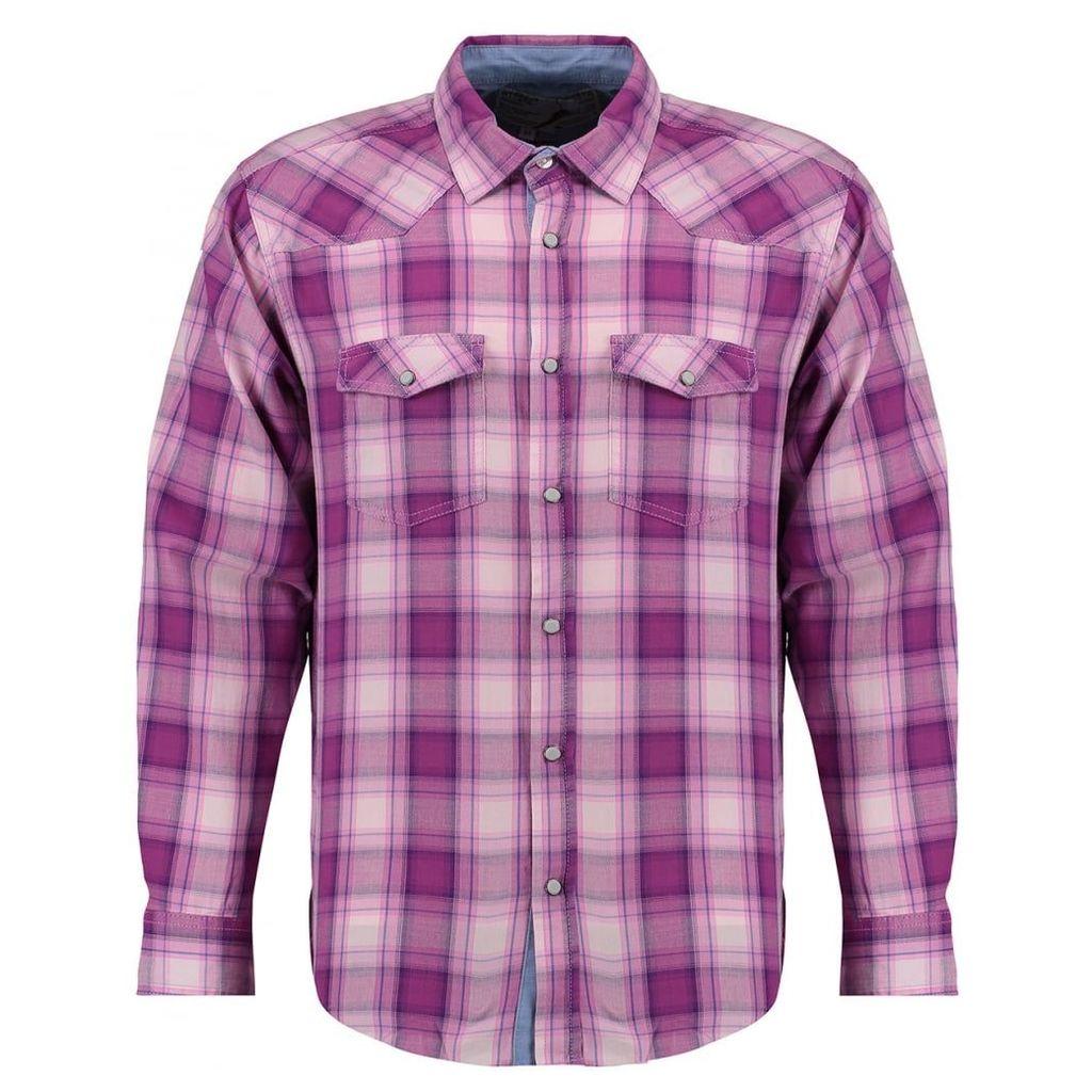Men's Blue Inc Purple Jersey Long Sleeve Shirt, Purple