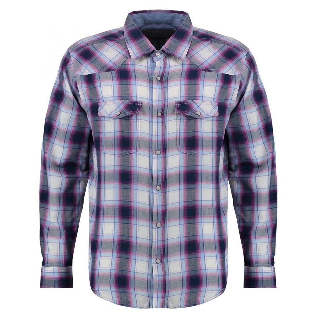 Men's Blue Inc Blue Jersey Long Sleeve Shirt, Blue