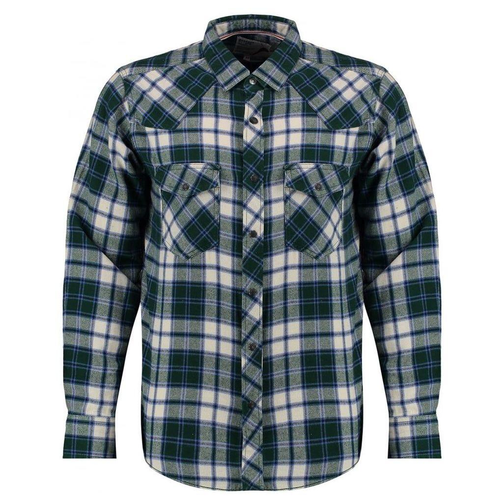 Men's Blue Inc Green Jersey Front Pocket Shirt, Green