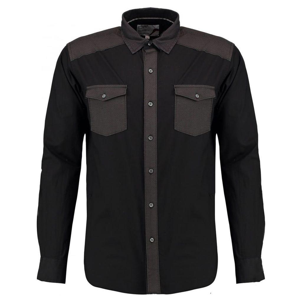 Men's Blue Inc Black Long Sleeve Shirt, Black