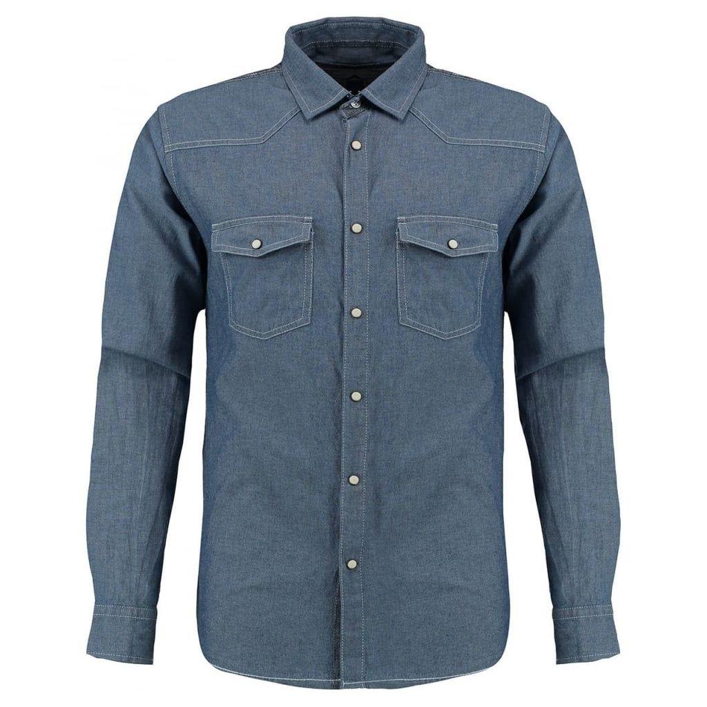 Men's Blue Inc Light Blue Two Front Pocket Shirt, Blue
