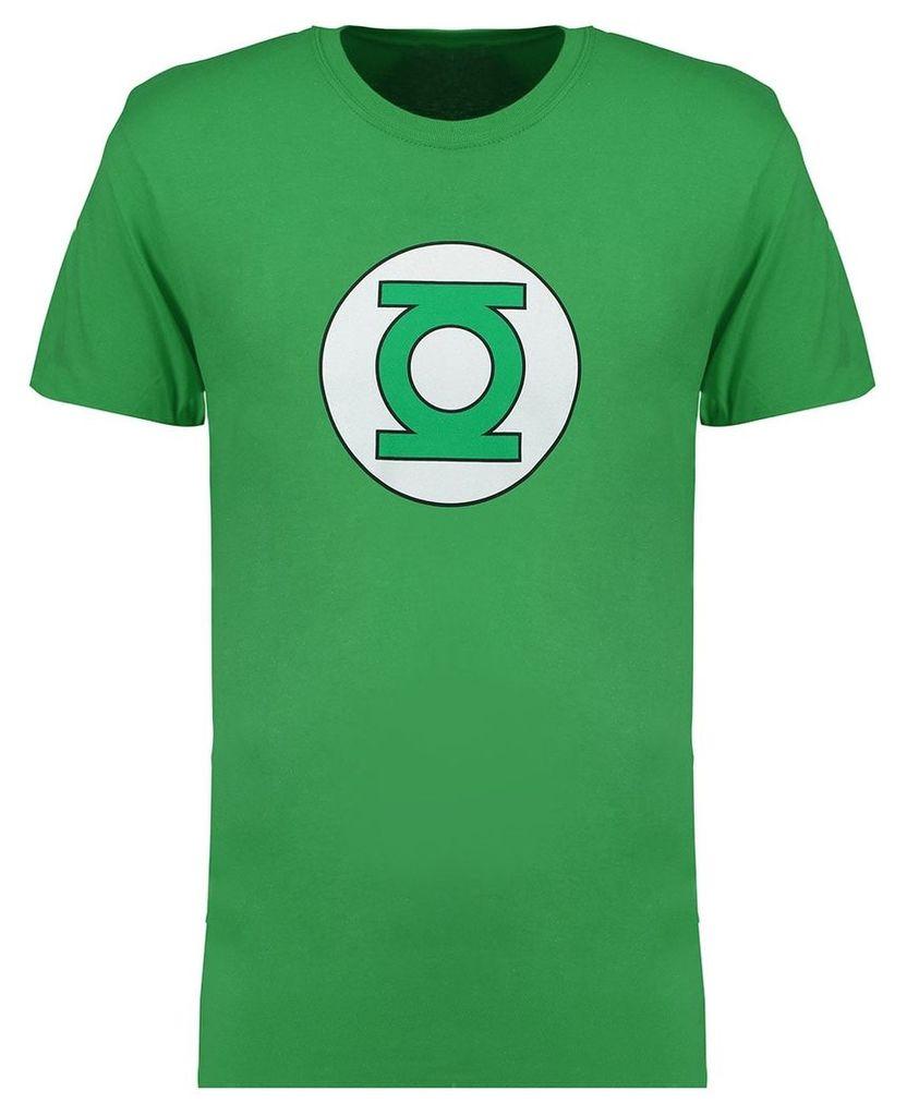 Men's Blue Inc Green Official Marvel Lantern Logo Graphic T-Shirt, Green