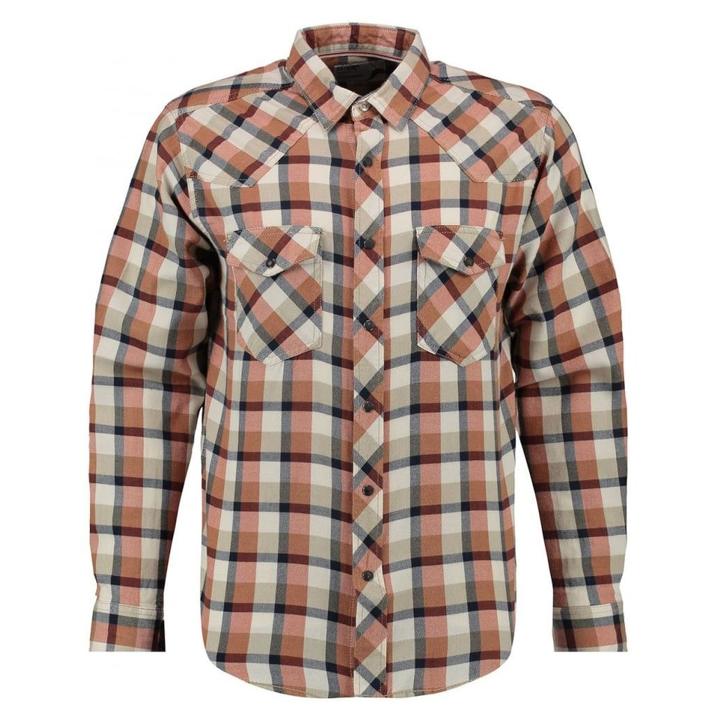 Men's Blue Inc Stone Jersey Long Sleeve Shirt, Beige