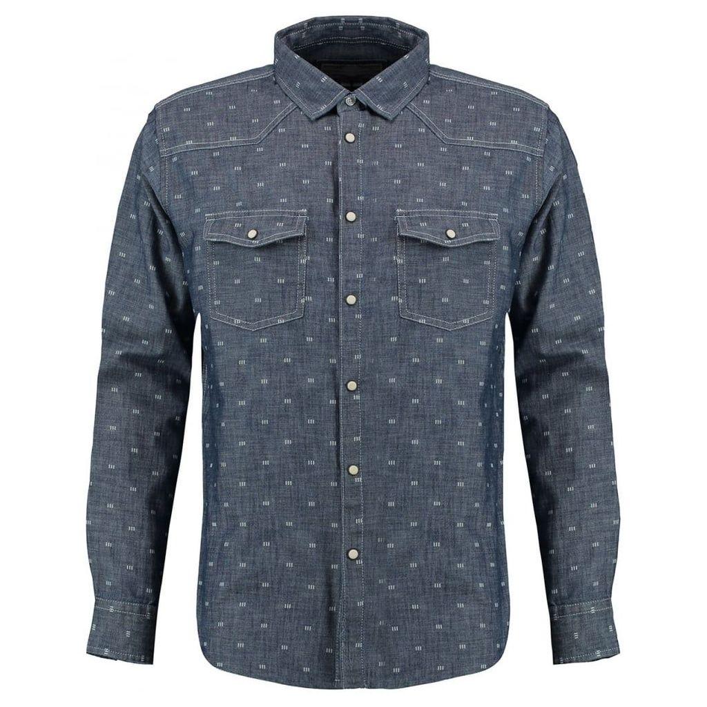 Men's Blue Inc Blue Long Sleeve Shirt, Blue