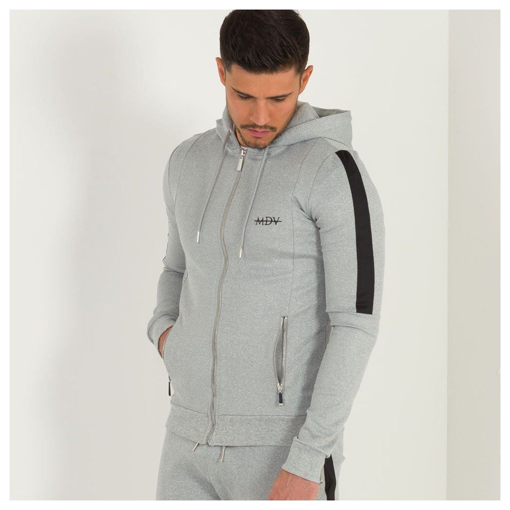 Maniere De Voir; Tracksuit Jacket with Stripe - Grey