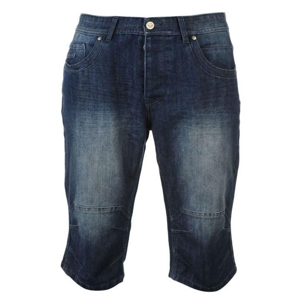 No Fear Below The Knee Denim Shorts Mens